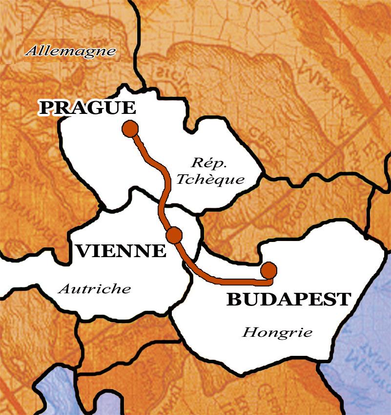Carte Europe Vienne Prague Budapest.Sejours Et Camps Itinerants Ados En Europe De L Est